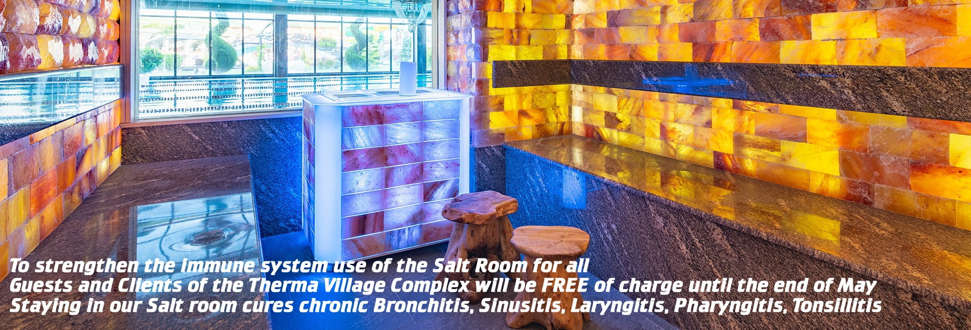 Free Salt room at hotel Eko Therma 5*