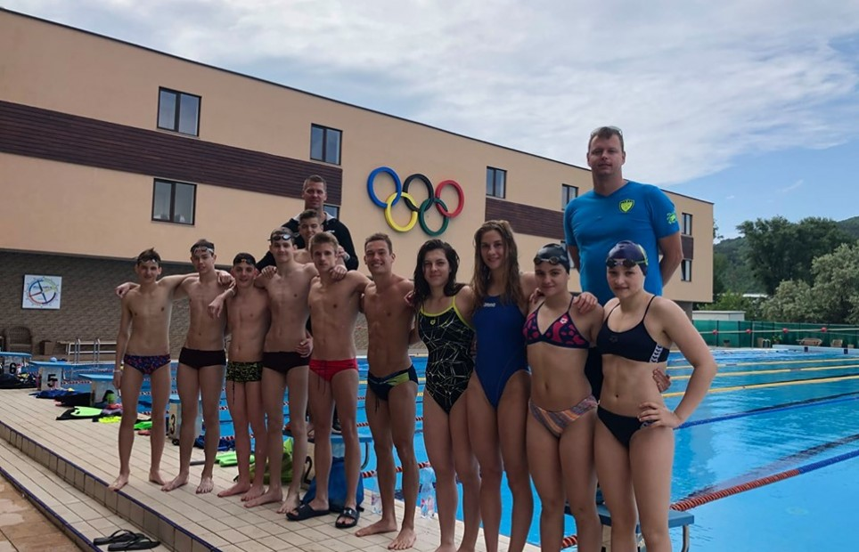 Hungarian swimmers at Therma Camp and Pool