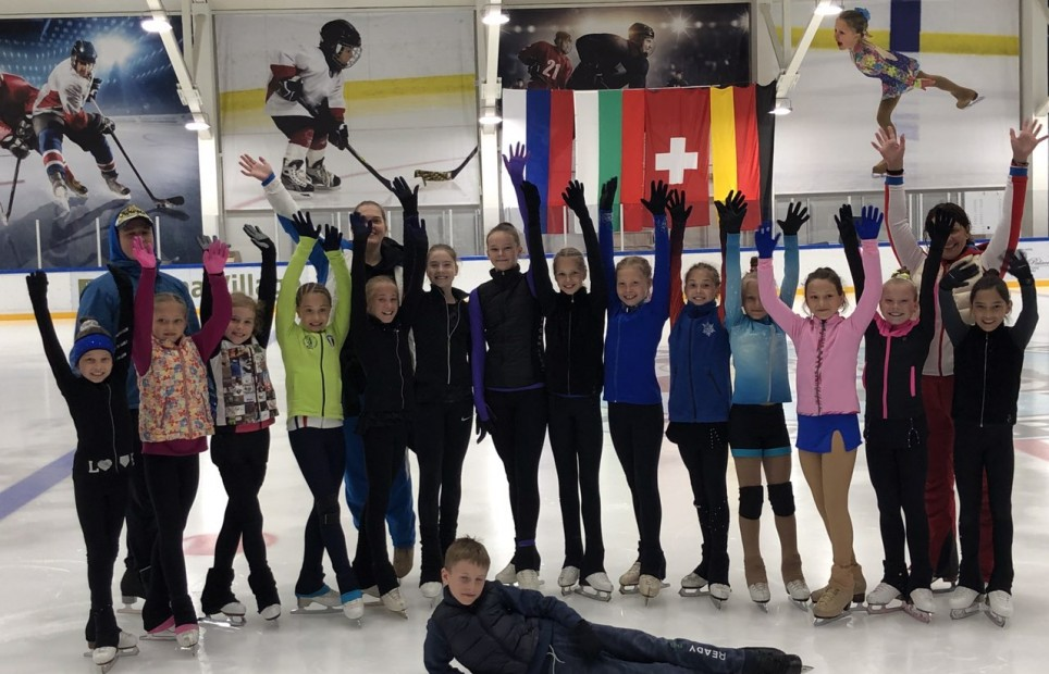 Figure skating club Elena Konyuhova at Therma Village, Kranevo